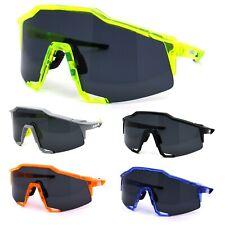 Kush Mens Oversize Robotic Shield Sport Plastic Sunglasses