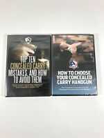 How To Choose Handgun And Concealed Carry Mistakes Lot DVDs (2 DVDs) USCCA