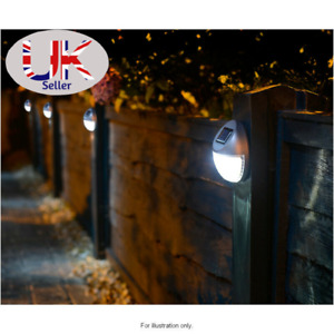 10 x Solar LED Garden Fence Light Wall Patio Door Decking Outdoor Shed Lamp Post