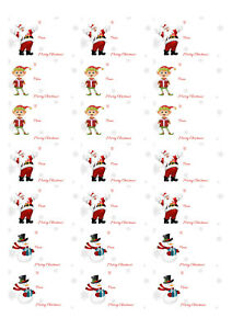 Mixed Christmas to and from stickers 21 to a page