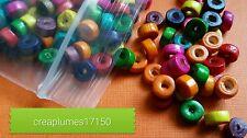Lot de 200 perles en bois multicolore 8x4mm