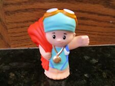 Fisher Price Little People NEW sport Swimmer Olympic Beach towel goggles race