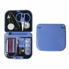 Travel Sewing Kit Thread Needles Mini Case Plastic Scissors Tape Pins Deko New