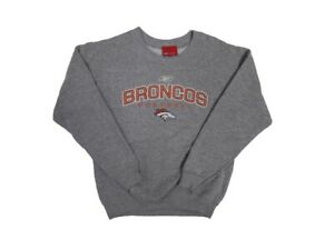 Denver Broncos Youth Grey Pullover Sweatshirt (Large 14/16)