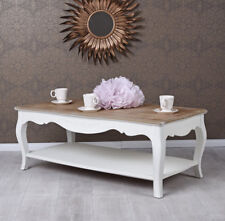 Living Room Table Country Style White Side Coffee Wooden Salon
