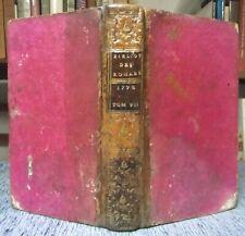 PAULMY TRESSAN BIBLIOTHÈQUE UNIVERSELLE DES ROMANS OCTOBRE 1778 2 VOL. EN 1 TOME