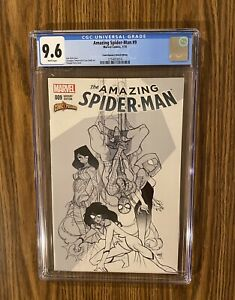 AMAZING SPIDERMAN #9 CGC 9.6 COMICXPOSURE SKETCH VARIANT 2nd App SPIDER-GWEN !