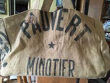 French Country Burlap Jute Purse Bag Feed Sacks Garden