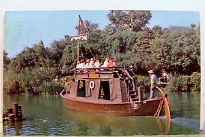 Disneyland Frontierland Keel Boat Postcard Old Vintage Card View Standard Postal