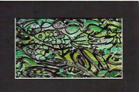 FISH FANTASY by RUTH  FREEMAN MIXED MEDIA MEASURES  5  X 7 WITH INCLUDED MAT