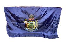 New listing Vtg State Of Maine Dirigo Flag Banner 5Ftx8Ft Made In Usa