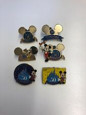 Lot Of 6 Disneyland 50th Anniversary Pin Trading Mickey Mouse Walt Disney