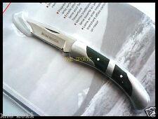 "Winchester 2.5"" Lock-back Folder Knife, Pocket Folding 2757 Green Micarta Inlay"
