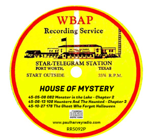 HOUSE OF MYSTERY (5 SHOWS) OLD TIME RADIO AUDIO 2 CD'S