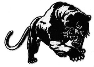 Patch Panther Black White Patched Transfer Thermoadhesive