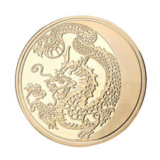 FH- Alloy Chinese Lunar Year of The Dragon Round Collectible Commemorative Coin