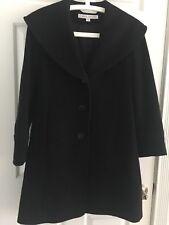 Larry Levine Classic Wool Coat black size 4