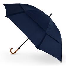 "GustBuster Doorman 62"" Super Strong Vented Hook Handle Umbrella - Navy"