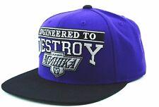 "Mishka Engineered to Destroy ""The Forum"" Snapback Cap Hat Purple & Black OSFM"