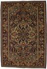 Brownish Red Vintage Farmhouse 7X11 Room Sized Oriental Area Rug Handmade Carpet