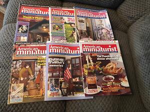 American Miniaturist Magazine Lot (6) Issues From 2005 June-November
