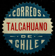 CHILE, OFFICIAL SEAL, TALCAHUANO, SAWTOOTH, MINT HINGED