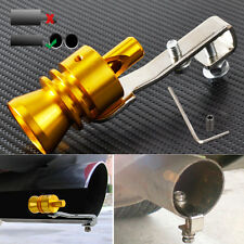 Car CNC Turbo Sound Exhaust Whistle Muffler Auto Blow-off Valve Simulator L Gold