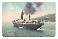 IMPERIAL RUSSIA CRIMEA Ship at Yalta UKRAINE 1907 panorama /162