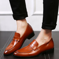 Men's Formal Business Party Leather Loafers Dress Casual Driving Shoes Slip On