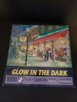 Bits & Pieces CANDY CANE LANE 1000 Piece Jigsaw Puzzle Glow in Dark Christmas