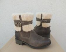 Ugg 2018 Blayre Iii Dove Leather/ Sheepskin Cuff Lined Boots, Us 6.5/ 37.5 ~ New
