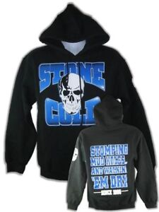 Stone Cold Steve Austin Stomping Mudholes Pullover Hoody Sweatshirt New