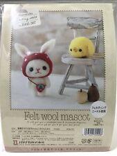Needle Felting Kit Bunny Rabbit Chick Japan Wool Strawberry Mascot Hamanaka F/S
