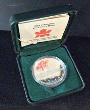 2003 Canada Silver Proof Dollar Coronation QE II Coin   ** FREE U.S. SHIPPING**
