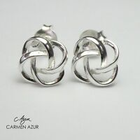 2caf92da7 Solid 925 Sterling Silver Stud Earrings Celtic Knot Style New with Gift Bag