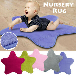Rug Carpet Kids Room Star Soft Fluff Five-pointed Star Nursery Rug Play Ma