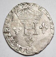 HENRI III : DOUBLE SOL PARISIS 2e TYPE 1584& AIX