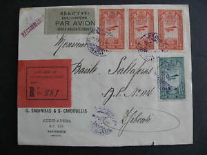 Ethiopia 1931 registered cover to Djibouti, check it out!