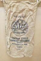 """Vintage EASTERN STATES COOP FARMERS EXCHANGE 100 Lb. Burlap Seed Bag 18""""X36"""""""