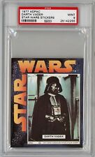1977 Topps Star Wars ADPAC DARTH VADER STICKER PSA 9 MINT