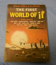 1957 The First WORLD OF IF Asimov Beaumont Bixby Blish 20 Science Fiction