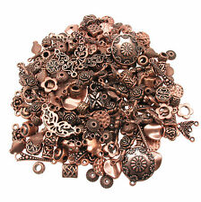 75g Copper Colour Mixed Spacer Beads - Connectors / Findings / Charms for Crafts
