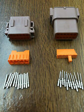Deutsch DTM 12 Pin and Socket Kit (Brown)