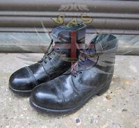 BRITISH ARMY SURPLUS BLACK AMMO BOOTS,LEATHER UPPER & SOLE,UNIFORM,PARADE DRESS