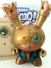 "DUNNY 3"" 2010 SERIES DOKTOR A STEAM PUNK GOLD 1/25 KIDROBOT 2010 VINYL TOY"