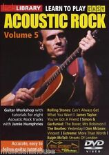 LICK LIBRARY Learn to Play Easy ACOUSTIC ROCK Guitar VOL 5 Tutor SONGS TUTOR DVD