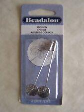 Stick Pin W/Beading Disc 2/Pkg