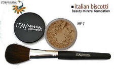 ITAY Beauty Mineral Foundation Color: MF- 7 ITALIAN BISCOTTI + FREE  Brush Gift