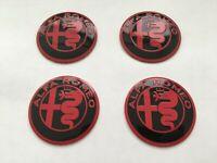 ✅ 4pcs 56mm Wheel Center Hub Caps Stickers Fits For Alfa Romeo Alloys 60mm caps