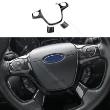 3pc Carbon fiber color Steering Wheel Cover fit For ford Focus Escape Kuga c-max